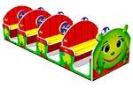 Игровой макет «Машинка Гусеничка», эскиз