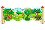 Ограждение детской площадки «Лесной мир У1», эскиз