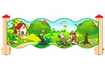 Ограждение детской площадки «Лесной мир У2», эскиз
