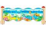 Ограждение детской площадки «Морское Царство У2», эскиз