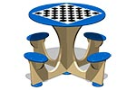 Стол шахматный М4 (детский), эскиз