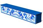 Ящик-скамья для теневых навесов «Гжель М1», эскиз