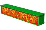 Ящик-скамья для теневых навесов «Хохлома М1», эскиз