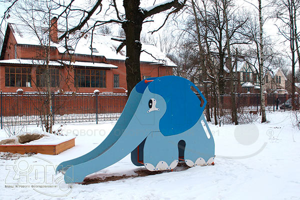 Фото 2 детской горки «Слоненок» эскиз