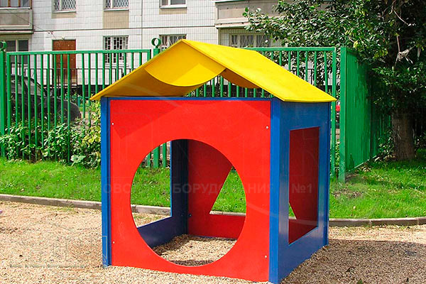 Вид 1 детского игровойго домика «Геометрия» эскиз