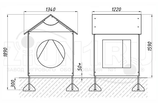 Схема монтажа детского домика «Геометрия» эскиз