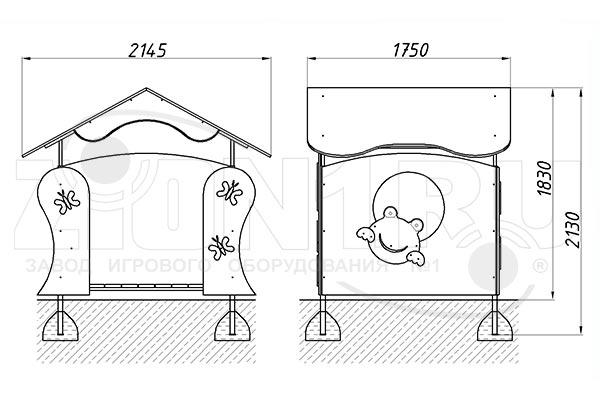 Схема монтажа детского игрового домика «Лягушка» эскиз