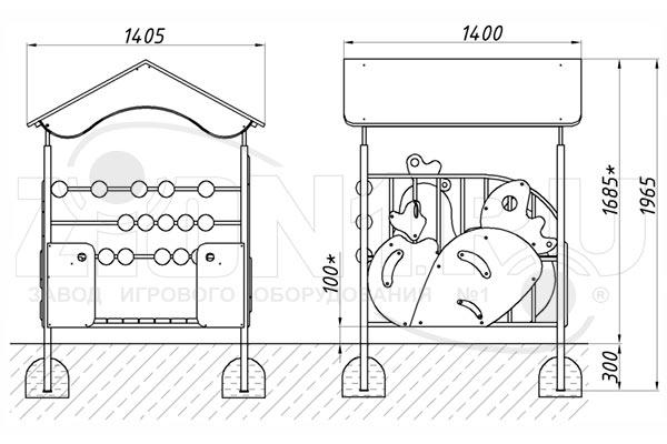 Схема монтажа детского игрового домика «Магазин» эскиз