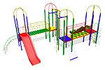 Детский игровой комплекс «Калахарский лев» эскиз 1