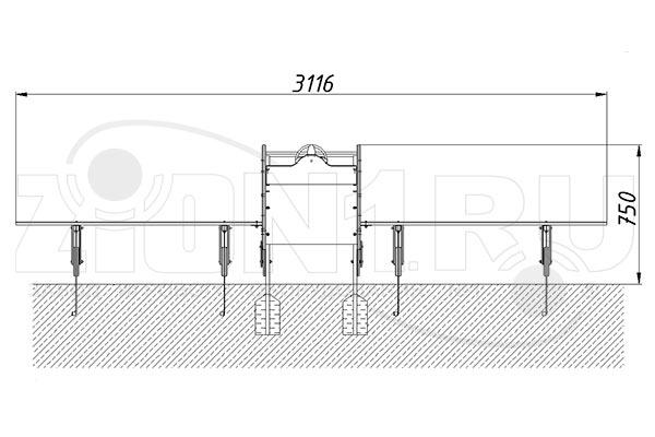 Схема монтажа 2 игрового макета «Самолет» эскиз