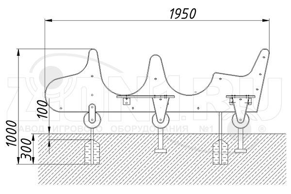 Схема монтажа 1 игрового макета «Самолет» эскиз
