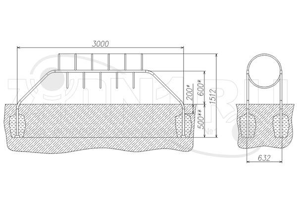 Схема монтажа лаза «Кольца» эскиз