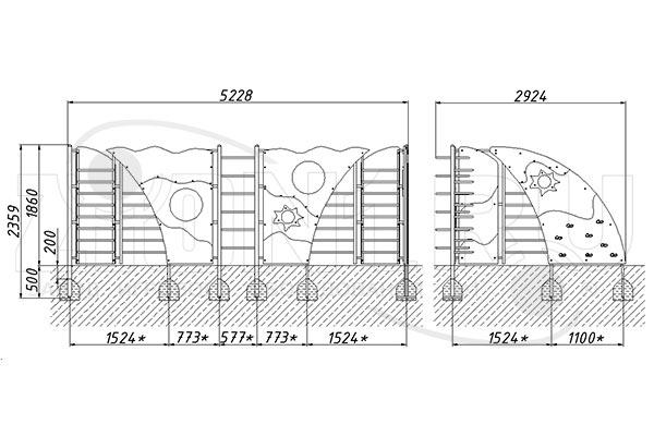 Схема монтажа лаза «Сектор» эскиз