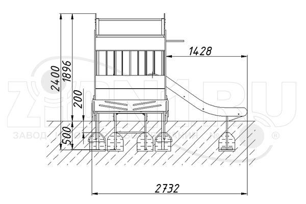 Схема монтажа 2 макета-комплекса «Пожарная машина» эскиз