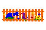 Ограждение детской площадки «Африка» эскиз 1