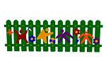 Ограждение детской площадки «Игра» эскиз 1