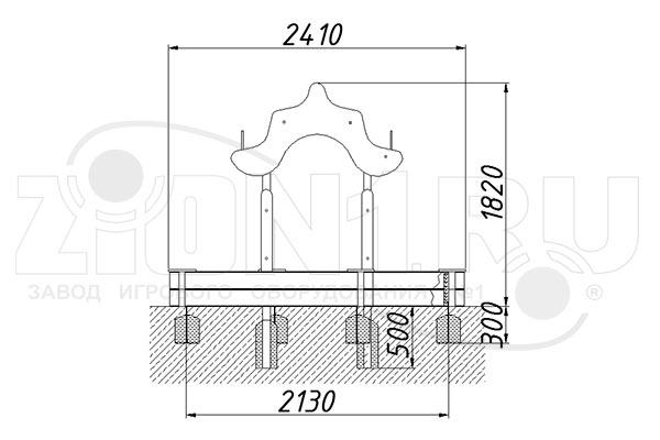 Схема монтажа 2 песочного комплекса «Дворик» эскиз