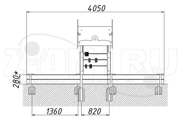 Схема монтажа 1 песочного комплекса «Дворик» эскиз