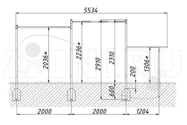 Схема монтажа 1 спортивного комплекса «СГК-2» эскиз