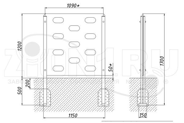 Схема монтажа стенки для перелезания М1 эскиз