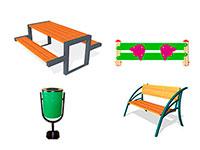 619) МАФ для парков и скверов