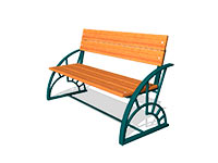 19) Скамейки парковые