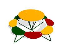 20) Столики для детской площадки