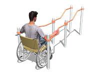 622) Уличные тренажёры для людей с ограниченными возможностями