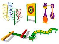 623) Уличное спортивное оборудование для детского сада