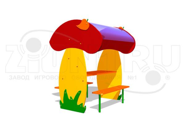 Детский столик с навесом «Грибник» превью