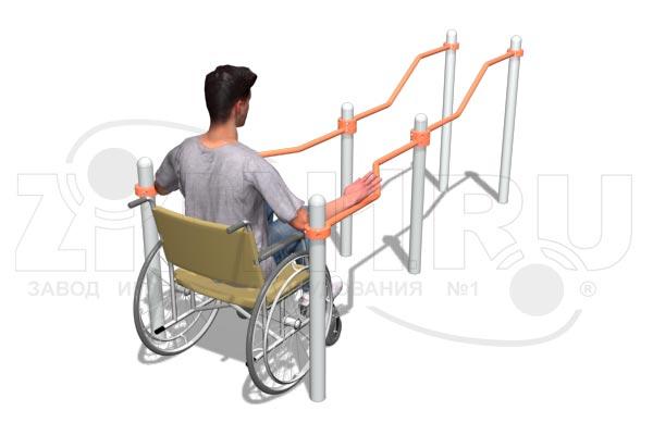 Брусья двойные разноуровневые с подъемом для коляски, превью