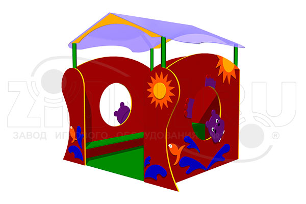 Детский игровой домик «Бегемотик» превью