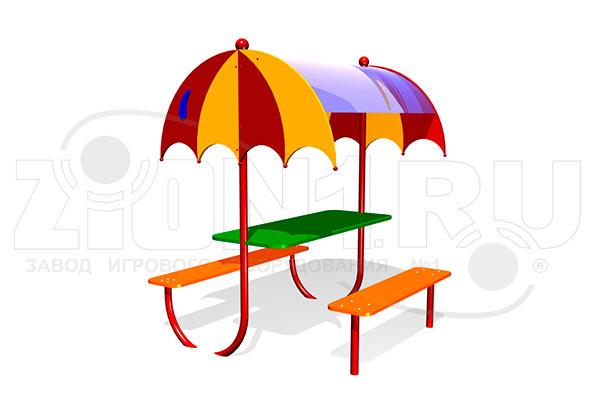 Детский столик с навесом «Зонтик» превью