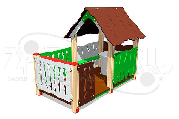 Домик «Хижина с оградой», превью