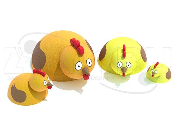 Фигура из резиновой крошки «Курочка», превью