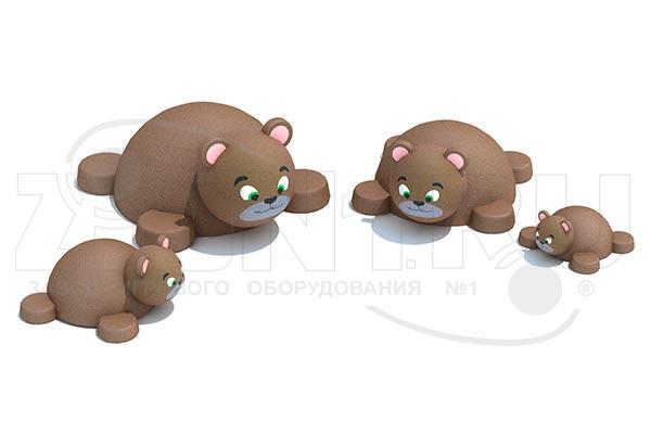 Фигура из резиновой крошки «Мишка», превью