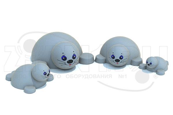 Фигура из резиновой крошки «Тюлень», превью