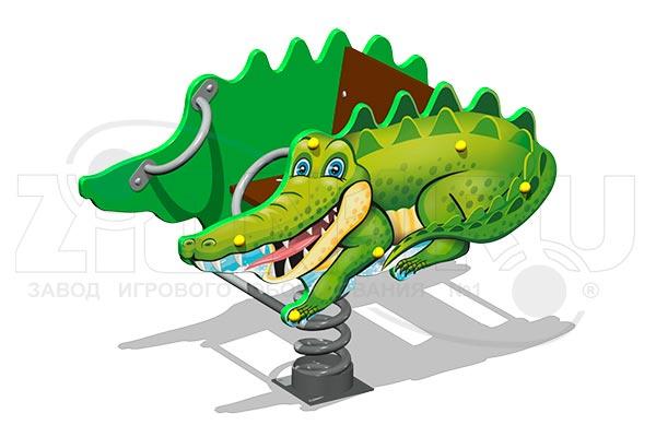 Качалка на пружине «Крокодил У1», превью