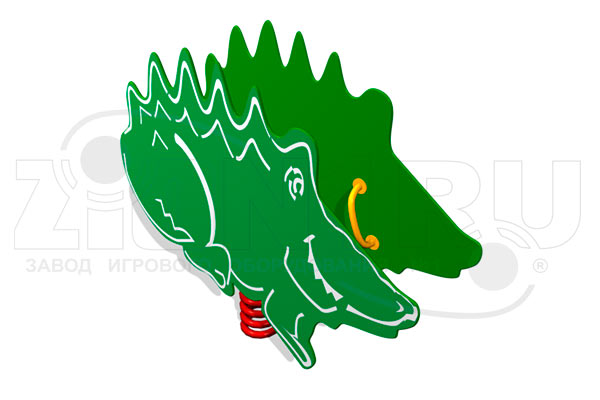 Качалка на пружине «Крокодил» превью