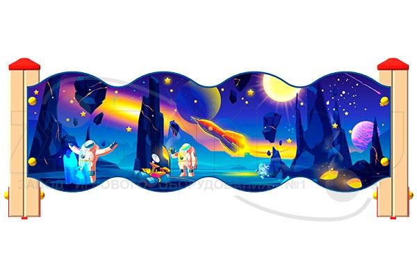 Ограждение детской площадки «Космос У2», превью