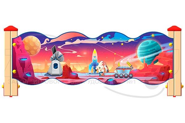 Ограждение детской площадки «Космос У3», превью