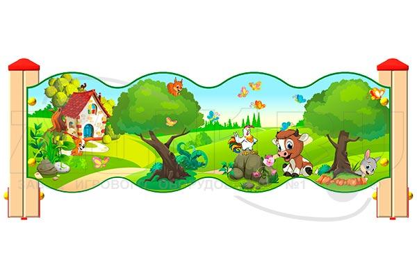 Ограждение детской площадки «Лесной мир У2», превью