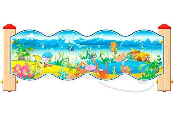 Ограждение детской площадки «Морское Царство У2», превью