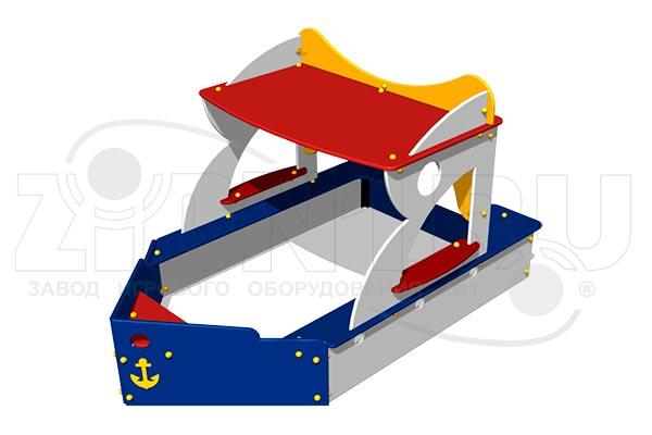 Песочница-макет «Кораблик» превью