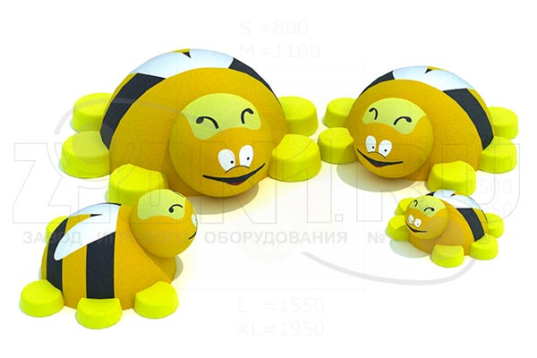 Резиновая 3D фигура «Пчела», превью