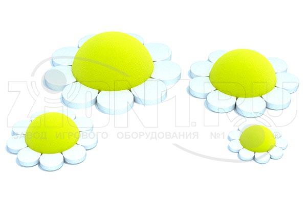 Резиновая фигура из EPDM крошки «Ромашка», превью
