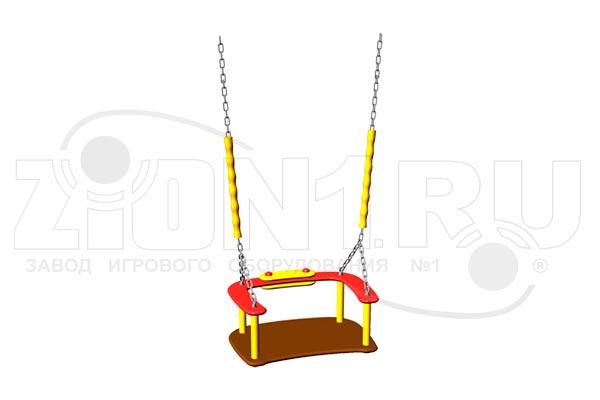 Сидение для качелей со спинкой и цепями превью