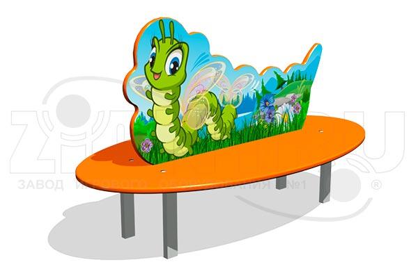 Скамейка детская «Гусеница» превью