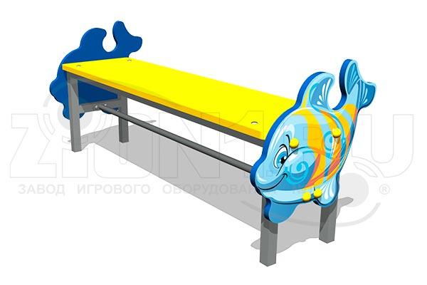 Скамейка детская «Кит» превью