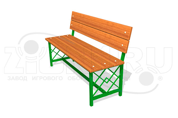 Скамейка парковая ДП3 превью